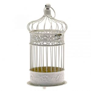 Antique Style Metal Bird Cage Centrepiece